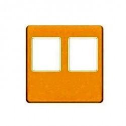 Накладка на мультимедийную розетку Fede, bright gold/бежевый, FD04318OB-A