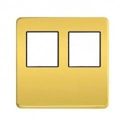 Накладка на мультимедийную розетку Fede, bright gold/черный, FD04318OB-M