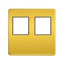 Накладка на мультимедийную розетку Fede, real gold/черный, FD04318OR-M