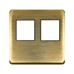 Накладка на мультимедийную розетку Fede, matt patina/черный, FD04318PM-M