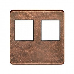 Накладка на мультимедийную розетку Fede, rustic cooper/черный, FD04318RU-M