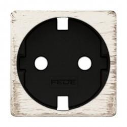 Накладка на розетку Fede коллекции FEDE, с заземлением, white decape/черный, FD04335BD-M