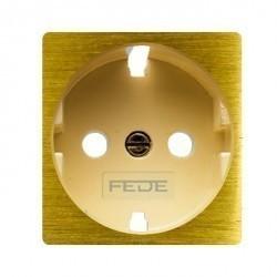 Накладка на розетку Fede коллекции FEDE, с заземлением, graphite/бежевый, FD04335GR-A