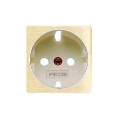 Накладка на розетку Fede коллекции FEDE, с заземлением, matt patina, FD04335PM-A