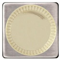 Светорегулятор поворотный Fede Коллекции FEDE, 500 Вт, nickel satin/бежевый, FD16438NS-A