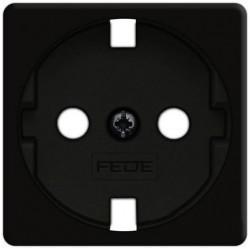 Накладка на розетку Fede коллекции FEDE, с заземлением, черный, FD16723-M