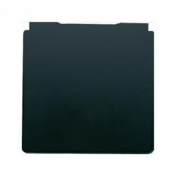 Накладка на розетку Fede коллекции FEDE, с заземлением, с крышкой, черный, FD16911-M