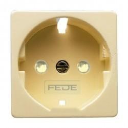 Накладка на розетку Fede коллекции FEDE, бежевый, FD17722-A