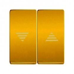 Клавиша для жалюзийного выключателя Fede, bright gold/бежевый, FD17769OB-A
