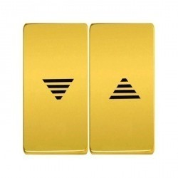 Клавиша для жалюзийного выключателя Fede, bright gold/черный, FD17769OB-M