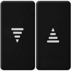 Клавиша для жалюзийного выключателя Fede, черный, FD17769-M