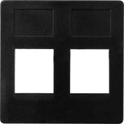 Накладка на розетку информационную Fede FEDE МЕХАНИЗМЫ И НАКЛАДКИ, черный, FD17797-M