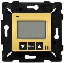 Термостат для теплого пола Fede МЕХАНИЗМЫ, с дисплеем, с датчиком, bright gold/черный, FD18000OB-M