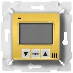 Термостат для теплого пола Fede МЕХАНИЗМЫ, с дисплеем, с датчиком, bright gold/белый, FD18000OB
