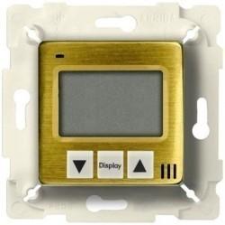 Термостат для теплого пола Fede FEDE МЕХАНИЗМЫ И НАКЛАДКИ, с дисплеем, с датчиком, bright patina/бежевый, FD18000PB-A