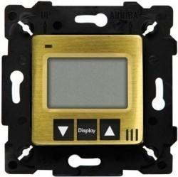 Термостат для теплого пола Fede FEDE МЕХАНИЗМЫ И НАКЛАДКИ, с дисплеем, с датчиком, bright patina/черный, FD18000PB-M