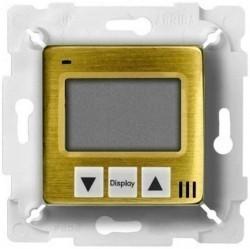 Термостат для теплого пола Fede МЕХАНИЗМЫ, с дисплеем, с датчиком, bright patina/белый, FD18000PB