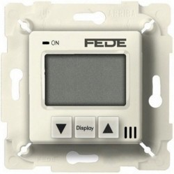 Термостат для теплого пола Fede МЕХАНИЗМЫ, с дисплеем, с датчиком, бежевый, FD18000-A