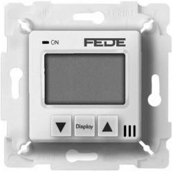 Термостат для теплого пола Fede МЕХАНИЗМЫ, с дисплеем, с датчиком, белый, FD18000