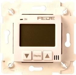 Термостат комнатный Fede МЕХАНИЗМЫ, с дисплеем, бежевый, FD18001-A