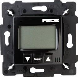 Термостат комнатный Fede МЕХАНИЗМЫ, с дисплеем, черный, FD18001-M