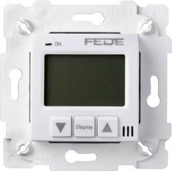 Термостат комнатный Fede FEDE МЕХАНИЗМЫ И НАКЛАДКИ, с дисплеем, белый, FD18001