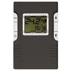 Термостат для теплого пола Fede МЕХАНИЗМЫ, с дисплеем, с датчиком, черный, FD18003