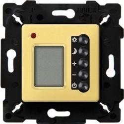 Термостат комнатный Fede МЕХАНИЗМЫ, с дисплеем, bright gold/черный, FD18004OB-M