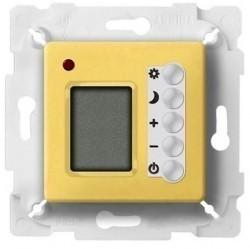 Термостат комнатный Fede МЕХАНИЗМЫ, с дисплеем, bright gold/белый, FD18004OB