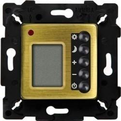 Термостат комнатный Fede МЕХАНИЗМЫ, с дисплеем, bright patina/черный, FD18004PB-M