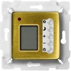 Термостат комнатный Fede МЕХАНИЗМЫ, с дисплеем, bright patina/белый, FD18004PB