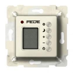Термостат комнатный Fede FEDE МЕХАНИЗМЫ И НАКЛАДКИ, с дисплеем, бежевый, FD18004-A