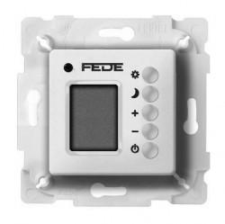 Термостат комнатный Fede FEDE МЕХАНИЗМЫ И НАКЛАДКИ, с дисплеем, белый, FD18004