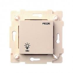 Выключатель сенсорный 1-клавишный Fede Коллекции FEDE,бежевый, FD28601-A