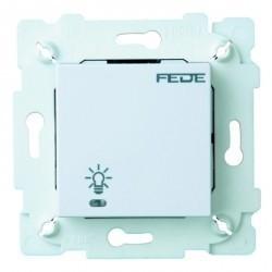 Выключатель сенсорный 1-клавишный Fede Коллекции FEDE,белый, FD28601