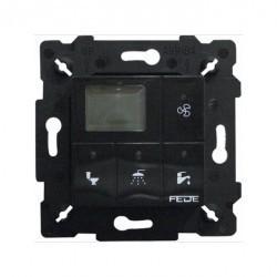 Выключатель с таймером Fede Коллекции FEDE, электронный, черный, FD28603-M