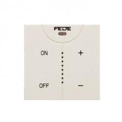 Светорегулятор клавишный Fede Коллекции FEDE, 600 Вт, белый, FD28625