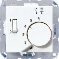 Термостат для теплого пола Jung А-СЕРИЯ, с датчиком, алюминий, FTRA231AL
