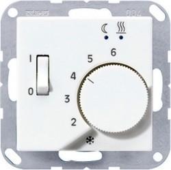 Термостат для теплого пола Jung А-СЕРИЯ, с датчиком, белый, FTRA231WW