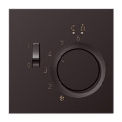Термостат для теплого пола Jung LS METAL, с датчиком, алюминий темный, FTRAL231D