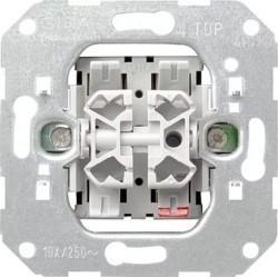 Механизм выключателя 2-клавишного Gira F100, скрытый монтаж, 00010500