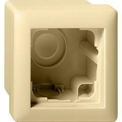 Standard55 Рамка для открытого монтажа 1-ная, глянцевый кремовый