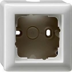 Standard55 Рамка для открытого монтажа 1-ная, глянцевый белый