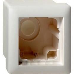 Standard55 Рамка для открытого монтажа 1-ная , матовый белый