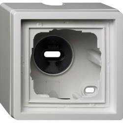 F100 Рамка для открытого монтажа 1-ная, глянцевый белый