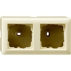 Standard55 Рамка для открытого монтажа 2-ная, глянцевый кремовый