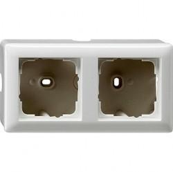 Standard55 Рамка для открытого монтажа 2-ная, глянцевый белый