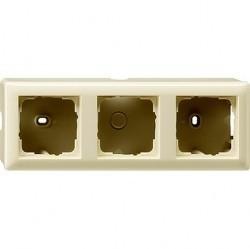 Standard55 Рамка для открытого монтажа 3-ная, глянцевый кремовый