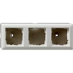 Standard55 Рамка для открытого монтажа 3-ная, глянцевый белый