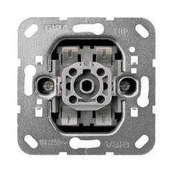 Механизм переключателя 1-клавишного перекрестного Gira Коллекции GIRA, с возможностью подсветки, скрытый монтаж, 010700